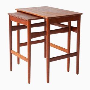 Nesting Tables by Hans Wegner for Andreas Tuck 1950s, Set of 2