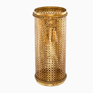 Mid-Century Umbrella Stand Gold-Plated by Li Puma, Florence, Italy, 1950s