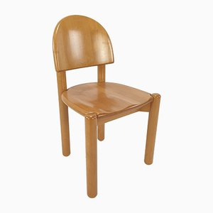 Oak Dining Chairs, 1980s, Set of 4