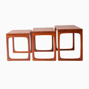 Nesting Tables from BR Gelsted Denmark, 1960s, Set of 3