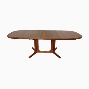 Large Solid Teak Extendable Dining Table from Glostrup, 1960s