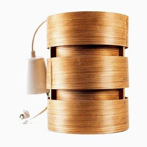 Lámpara colgante vintage de pino de Hans-Agne Jakobsson