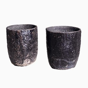 Fine Swedish Iron Garden Vases, 19th Century, Set of 2