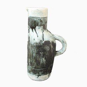 Jarrón francés Mid-Century de cerámica de Jacques Blin & Jean Rustin, años 60
