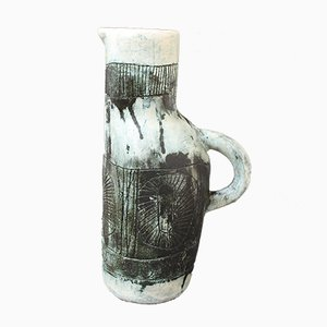 Mid-Century French Ceramic Pitcher Vase by Jacques Blin & Jean Rustin, 1960s