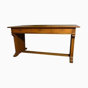 Juego de escritorio y silla de madera