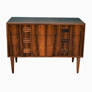 Mid-Century Danish 6-Drawer Rosewood Chest Sideboard TV Stand, 1970s