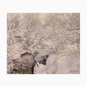 Georgij Moroz, Frost in the Forest, 1997, Öl auf Leinwand