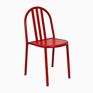 No. 222 Red Bauhaus Stackable Dining Chairs by Robert Mallet-Stevens, 1960s, Set of 2