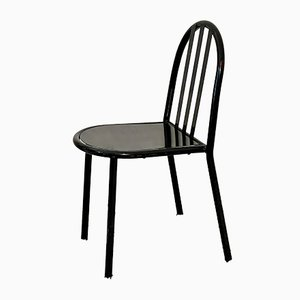 No. 222 Black Bauhaus Stackable Dining Chairs by Robert Mallet-Stevens, 1960s, Set of 2