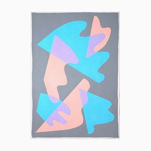 Ryan Rivadeneyra, Pastel Wings and Shapes, 2021, acrílico sobre papel