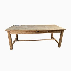 Antique French Provincial Farmhouse Pine Refectory Dining Table