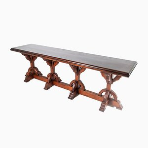 Large Victorian Gothic Revival Ecclesiastical Aesthetic Centre Table