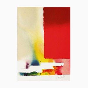 Paul Jenkins, Rectangle Rouge, 1986, Litografía sobre papel Arches