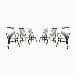 Mid-Century Goldsmith Dining Chairs in Elm from Ercol, 1960s, Set of 6