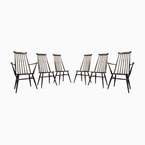 Mid-Century Goldsmith Esszimmerstühle aus Ulmenholz von Ercol, 1960er, 6er Set