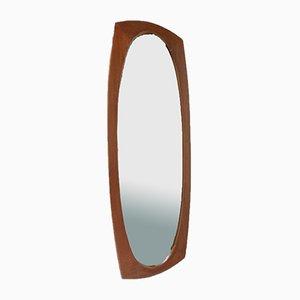 Mid-Century Danish VTeak Wall Mirror, 1960s