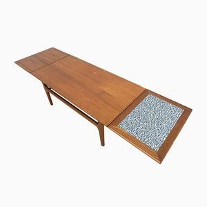 Mid-Century Danish Teak Extendable Coffee Table from Trioh, 1960s