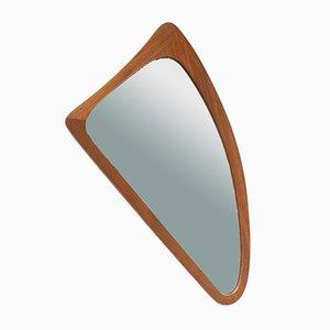 Mid-Century Danish Teak Asymmetrical Wall Mirror, 1960s
