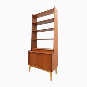 Mid-Century Swedish Teak Brantorps Desk Shelving Unit Bookshelf