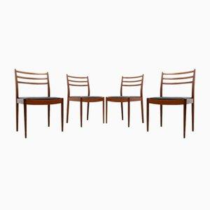 Mid-Century Esszimmerstühle aus Teak von B Wilkins für G-Plan, 1960er, 4er Set