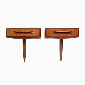 Mid-Century Teak Bedside Drawers from G-Plan, 1960s, Set of 2