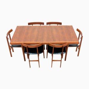 Juego de mesa de comedor y sillas danesas Mid-Century de teca de Vejen France & Son