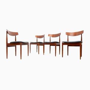 Juego de sillas de comedor Mid-Century de teca de Ib Kofod Larsen para G-Plan, años 60