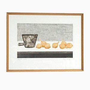 Tessa Beaver, Onions, Mid-Century Print