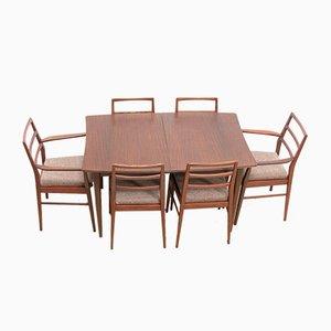 Juego de mesa de comedor y sillas Mid-Century de teca de Richard Hornby para Heals, años 60