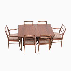 Mid-Century Teak Dining Table & Chairs Set by Richard Hornby for Heals, 1960s