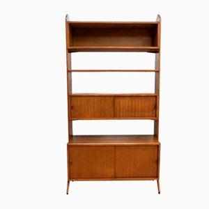 Mid-Century Teak Shelving Room Divider Bookcase by Herbert Gibbs