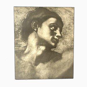 Mid-Century Michelangelo Athena Block Druck, 1970er