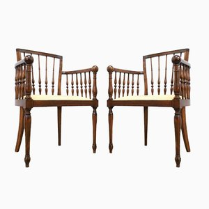 Antique French Bentwood Occasional Chairs, Set of 2