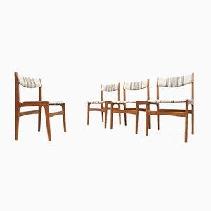 Dänische Mid-Century Esszimmerstühle aus Teak von Erik Buch für OD Mobler, 1960er, 4er Set