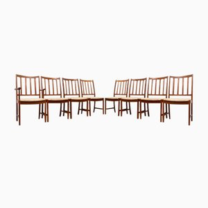 Mid-Century Dining Chairs in Teak by Johannes Andersen for Uldum Mobler, Set of 4