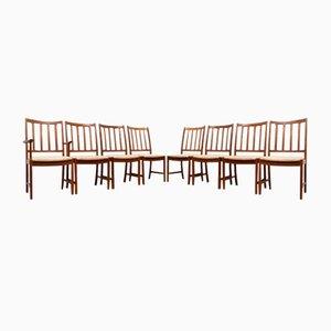 Mid-Century Esszimmerstühle aus Teak von Johannes Andersen für Uldum Mobler, 4er Set