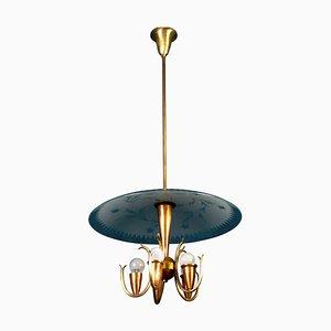 Lámpara colgante Art Déco de Pietro Chiesa para Fontana Arte, Italia, años 40
