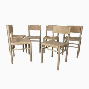 Modernist Beech Dining Chairs by Richard Hutten for Gispen, Set of 6