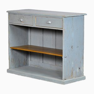 Small French Pine Shop Counter, 1930s