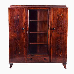 Art Deco Cocobolo Cabinet in High Gloss by Jules Leleu, France