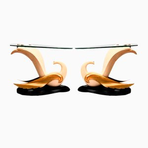 Swan Tables in the Style of Jean-Henri Jansen, Set of 2