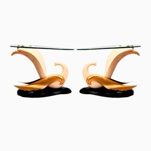 Swan Tische im Stil von Jean-Henri Jansen, 2er Set