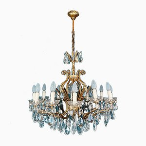 Large Crystal Chandelier, Italy, 1950s
