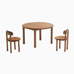 Kiefernholz Esszimmerstühle von Rainer Daumiller, 5er Set