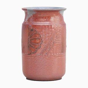 Jarrón grande de cerámica de Vallauris, France, años 80