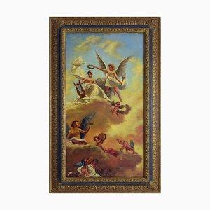 Giovanni Perna, Scena Sacca, años 90, óleo sobre lienzo, enmarcado