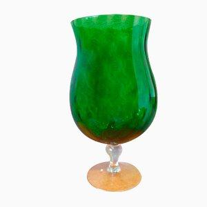 Vaso Empoli de vidrio bicolor