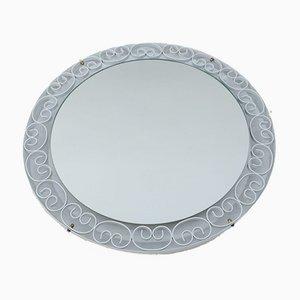 Round Backlit Mirror from Schöninger, Germany, 1970s