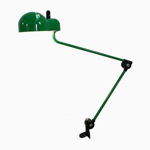Lámpara de escritorio verde de Joe Colombo para Stilnovo, años 70